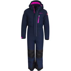TROLLKIDS Isfjord Combinaison de ski Enfant, navy/magenta